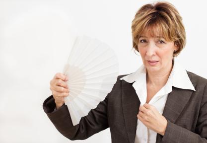 Businesswoman  in Menopause